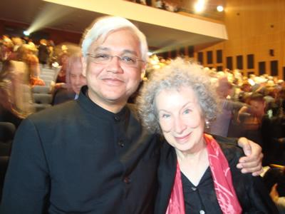 With Margaret Atwood, Dan David Prize